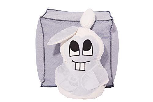 Hase Hansi Kissen Kinderkissen Hasenkissen mit Taschen Kuschelkissen