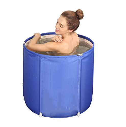 LQ-MAOZI Bañeras Independientes Plegables Bañera de inmersión de pie para Ducha, Mantenimiento eficiente de la Temperatura, Ideal para baño Caliente Baño de Hielo,70×70cm
