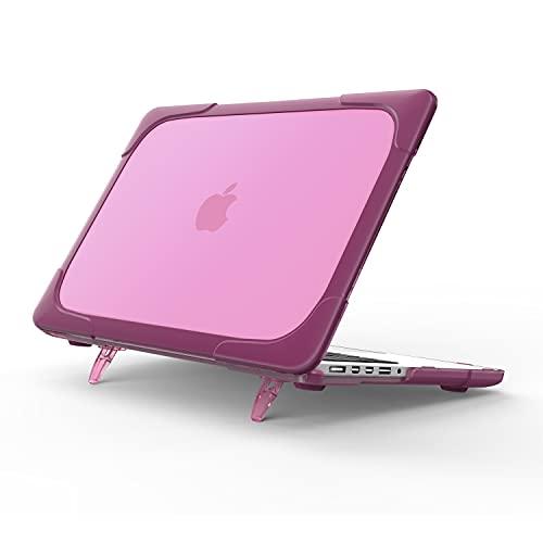 GUODONG Tablet PC Case Estuche para MacBook Pro 15 Retina (Compatible con A1398 2012-2015 versión), Antideslizante Completamente ventilado TPU + Mate PC Cubierta de cáscara de cáscara Dura Pas