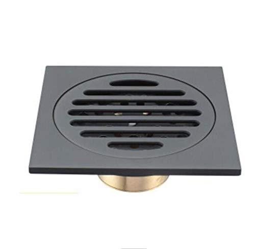 Rmbearmoni Pure Black Onzichtbare douche, vloerafvoer voor de badkamer, gebruik van het balkon, materiaal messing, snelle afvoergarnituur voor tegels, vierkante inzetstukken, drainage