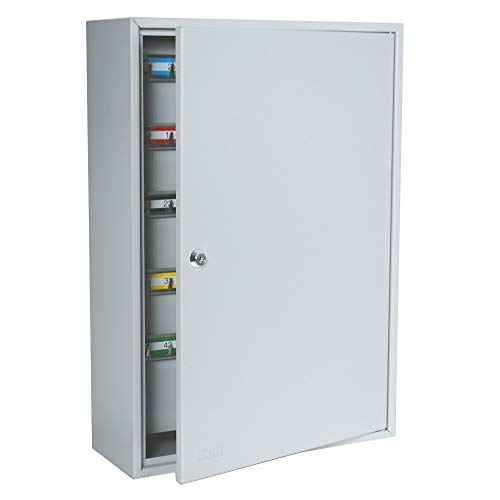 DuraBox 200 Position Key Cabinet with Key Lock, Light Grey (K200) for Key Management use by Valets, Hotels, Car dealerships. Wall Mount Screws Included.