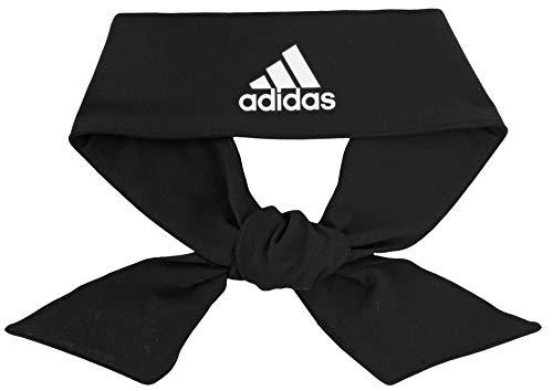 adidas Unisex Alphaskin Krawatten-Stirnband, Schwarz/Weiß, Einheitsgröße
