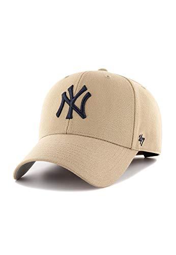 '47 Forty Seven York Yankees Khaki MVP Curved Visor Velcroback Cap Limited...