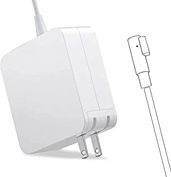 Charger for Mac Book Pro AC 60W Power Adapter Magnetic Connector Charger for Mac Book Pro 13-inch Before Mid 2012 Models  White