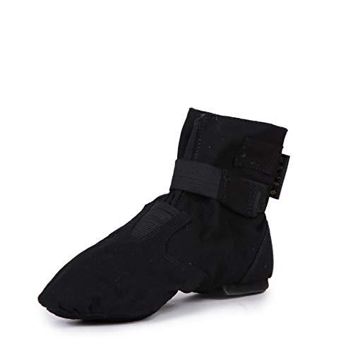 YWYW Damentanzschuhe Hoch-Spitze Jazz Stiefel Canvas Tanzschuhe Schnüren Sich Oben Weicher Schuh Trainingsschuhe Modern Dance Schuhe Ethnische Tanzschuhe Schwarz,41
