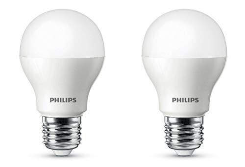 Philips Ace Saver Base E27 9-Watt LED Bulb (Pack of 2, Golden Yellow)