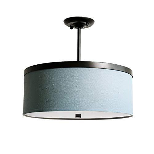 Plafonnier Plafond suspendu Simple petit salon chambre salle à manger LED plafonnier rond d'étude (Couleur : Half hanging, taille : 50cm White light)