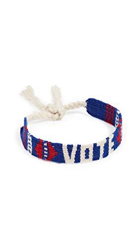Maison Irem Women's Vote Mantra Bracelet, Vote, Blue, Graphic, One Size