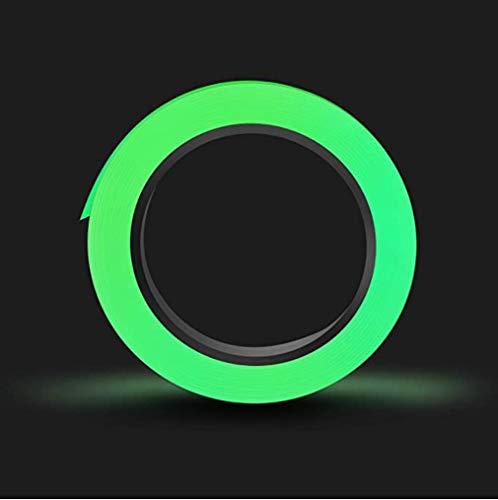 Cinta adhesiva fluorescente que brilla en la oscuridad, como cinta fluorescente y cinta adhesiva autoiluminada o reflectora, autoadhesiva también como cinta luminosa para bicicleta, 2 cm x 5 m