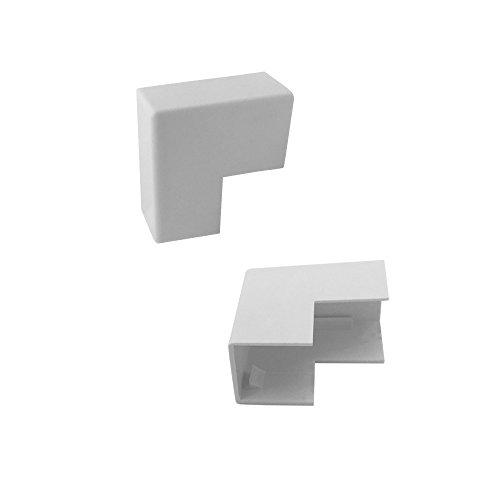 ARLI Kabelkanal 16x16mm 10x Eckstück aussen PVC Installationskanal Zubehör Ecken Montage 16 x 16 mm