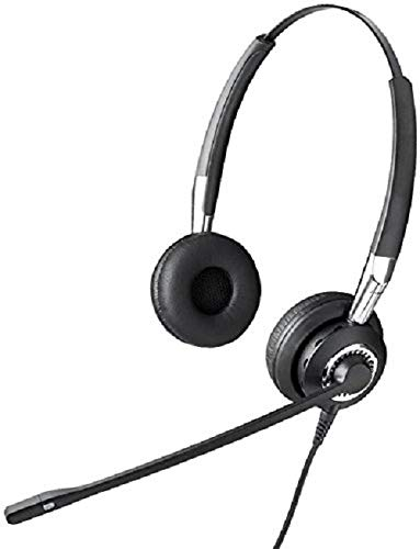 Jabra BIZ 2400 II QD Duo langlebiges Call-Center-Kabel-Headset mit Geräuschunterdrückung und Wideband für Festnetztelefonie