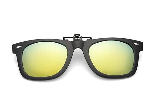 NAVARCH Gafas de Sol Clip on Gafas de sol polarizadas con Gafas Clip polarizadas UV400 para hombre y mujer, ajuste cómodo y seguro sobre gafas de sol para conducción y al aire libre ✅
