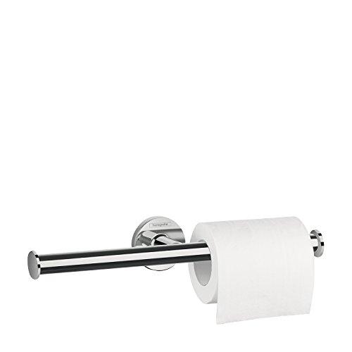 hansgrohe Logis Universal Toilettenpapierhalter (Badzubehör für 2 Rollen, ohne Abdeckung) Chrom