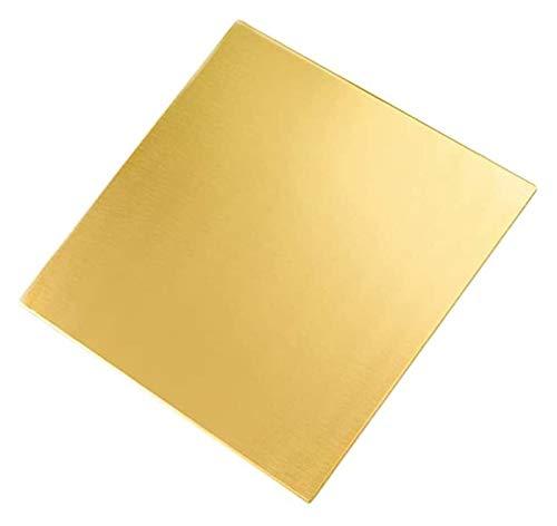 SoGuDio Placa de latón Placa de latón Puro de lámina de Cobre para joyería, Bricolaje, artesanías, Reparaciones, esmaltación, eléctrica Lámina de Cobre de Metal (Size : 2.5 * 150 * 150mm)