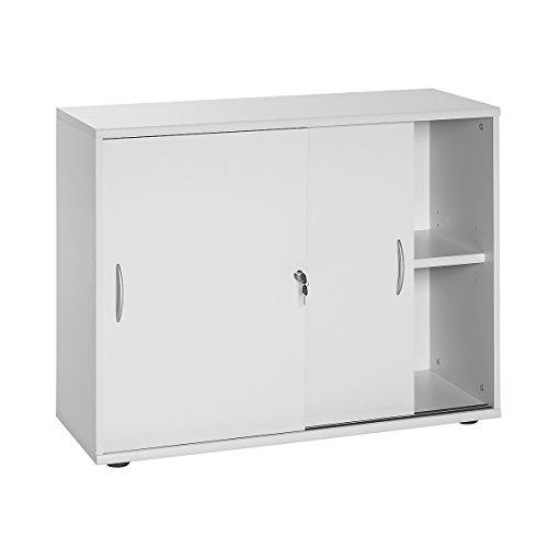 Möbelpartner Aktenschrank SERIE 4000 | HxBxT 760 x 1000 x 395 mm| lichtgrau | Aktenregal Schrank Regal Büroschrank Schiebetürenschrank