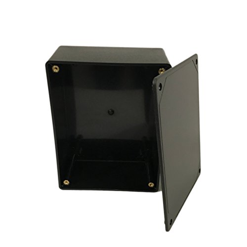 "BUD Industries CU-3283 Plastic Style A Utility Box, 6-3/32"" Length x 4-19/32"" Width x 2-23/64"" Height, Black Texture Finish"