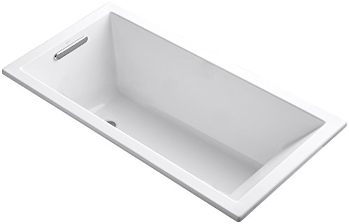 Kohler K-1121-0 Underscore Drop-In Undermount Bathtub, White