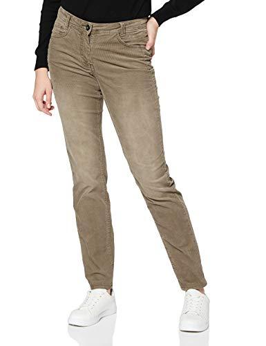 Cecil Damen 373451 Style Gesa Casual Fit Cord Hose, Mocca Brown, W30/L32