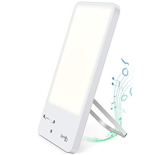 Awenia Tageslichtlampe 10000 Lux SAD Lampe Tageslichtleuchte gegen Depressionen mit Bluetooth Musiklautsprecher (natürliches weißes Licht, Tageslicht, bis 10.000 Lux, Dimmer) Super groß, super leicht