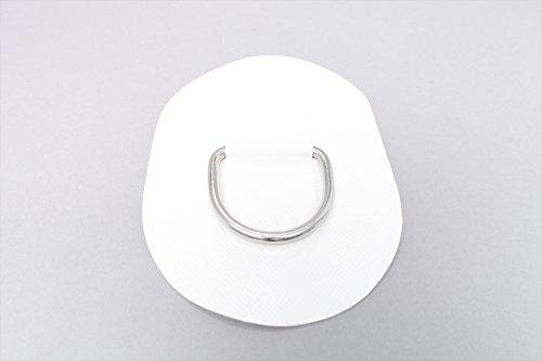 D-Ring für Schlauchboote (weiß), Beschlag zum Aufkleben aus Valmex Bengar DR-09