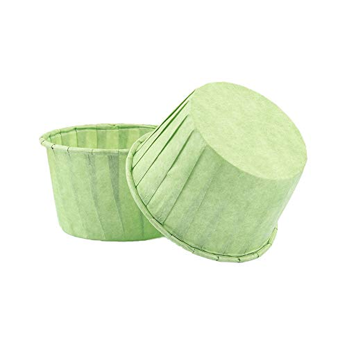 Cupcake Liners Baking Muffin Paper Baking Cups, Standard Size Nonstick Parchment Papers Cup cake Wrappers for Weddings, Birthdays, Baby Showers (Green 50pcs)
