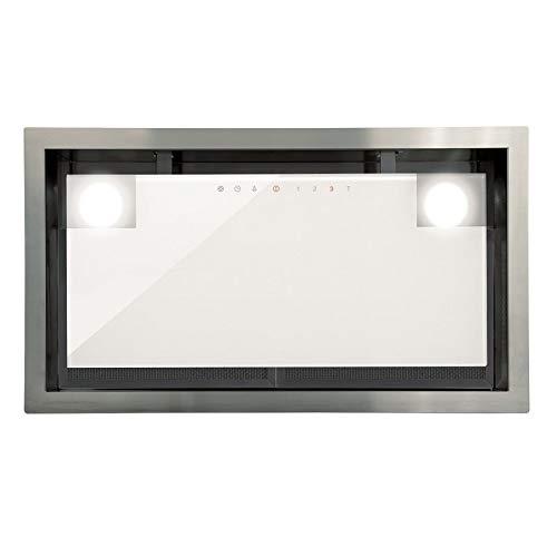 Allcata DUAL WH 45 weiß Dunstabzugshaube 50 cm Lüfterbaustein Unterhaube Touch Control ECO LED-Beleuchtung 4 Leistungsstufen Extra leiser Motor 1200 m³/h (freier Auslass) / 50 dB für Abluft und Umluft