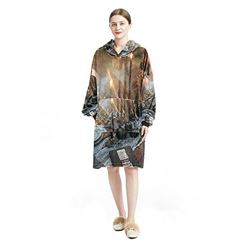 Sudadera con capucha para mujer, de manga larga, suelta, para mujer, casual, suave, chándal para Halloween, escoba, calabaza,, Multicolor 7, L/XXL