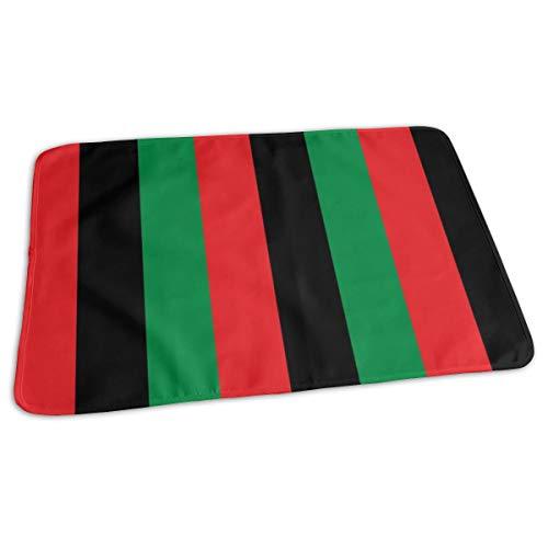 Rood, Zwart, Groen Pan Afrikaanse Vlag Verticaal (One Inch) Bed Pad Wasbaar Waterdichte Urine Pads voor Baby Peuter Kinderen en Volwassenen 27.5 x19.7 inch