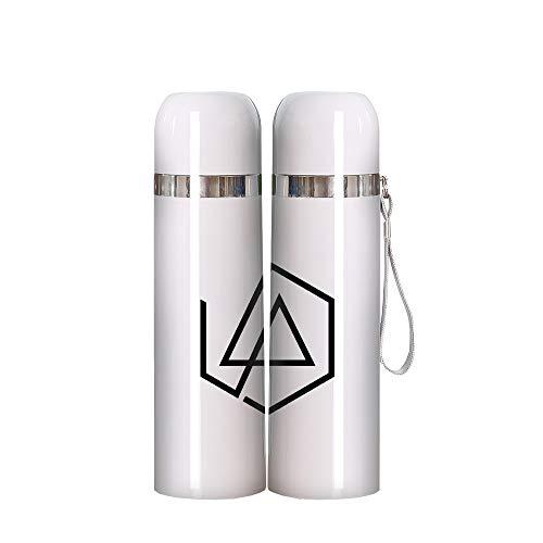 Pkfejgk Linkin Park Patrón cómico Personalizada Aislamiento térmico Taza de Viaje de Aislamiento al vacío Taza Aislamiento Sello Espiral Taza a Prueba de Fugas con Dos Modelos de Filtro