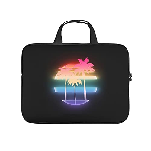 Funda para portátil con diseño de palmera hawaiana tropical, a prueba de golpes, para ordenador portátil, elegante funda para portátil para universidad, trabajo o negocios.