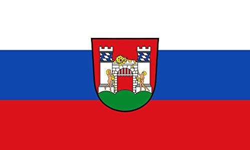 Unbekannt magFlags Tisch-Fahne/Tisch-Flagge: Neuburg a.d.Donau, GKSt 15x25cm inkl. Tisch-Ständer