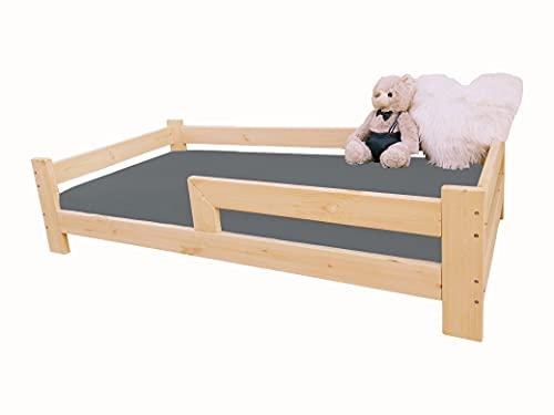 (140x70 cm) NeedSleep® cama infantil niño | 140x70 160 x80 180x90 | cama juvenil | cama bebe | barrera cama | montessori cama niña cama niño | cama de madera | camas individuales