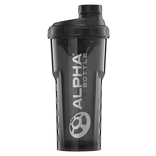 Alpha Bottle V2 – Anti-Bacterial BPA and DEHP Free Protein Shaker with...