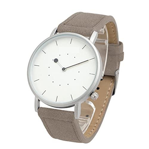 Reloj De Las Mujeres De Cuarzo De Ocio De Moda, Reloj De Cuero A Prueba De Agua De La Vida Diaria Simple, Grosor De 9 Mm De Diámetro De Dial De 9 Mm.(Color:A)