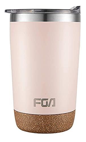 FGA Thermobecher Kaffeebecher to go Edelstahl Travel Mug 500ml Isolierbecher BPA-frei Reisebecher für heiße und kalte Getränke Pink
