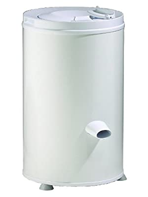 White Knight 28007(T) spin dryer, 3.2kg capacity, gravity drain, stainless steel drum