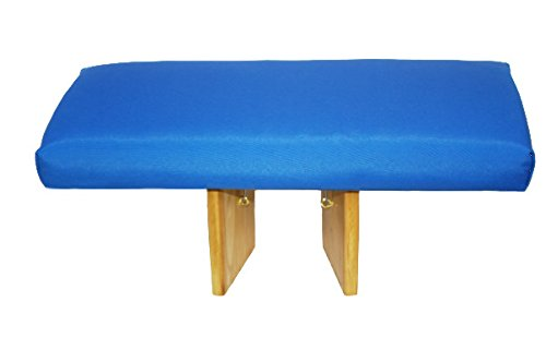 Banco de meditación plegable azul