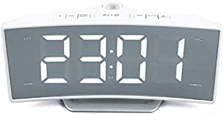 Delicate Projection Radio Alarm Clock Table Clocks USB Charging Function Arc Desk Large LED Display Mirror Watch Electroni...