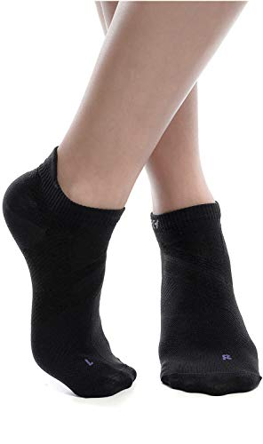 ZaTech low cut compression socks (Black, Large)