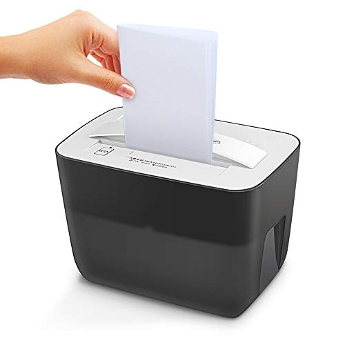 Sale!! LEFJDNGB Portable Desktop Mini Paper Shredder Class 5 Confidential 3 × 10mm Silent Household...