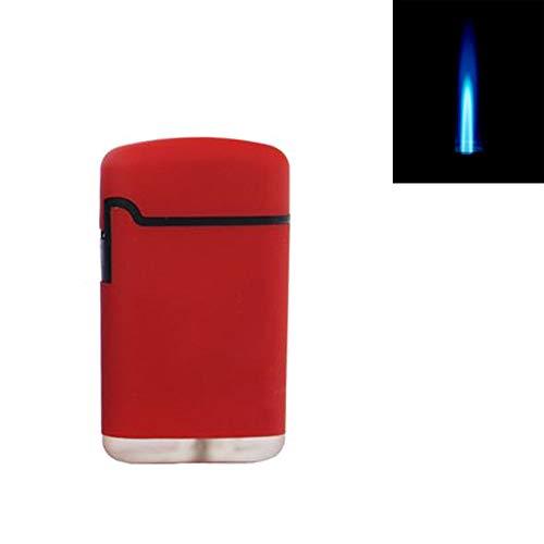 SEPILO Sturmfeuerzeug Turbo Feuerzeug Outdoor Easy Rubber Jet Flame Torch NEUES Modell mit ergonomischer D-Form (ROT)