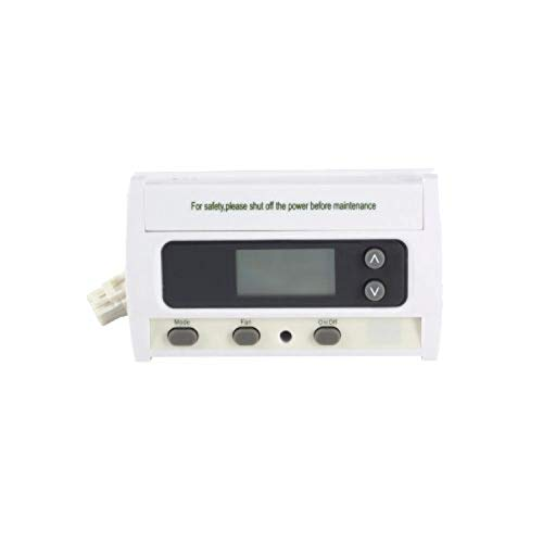 Termostato con display, modelo KJR-15B, para control de fancoil de 2 tubos, 6 x 3 x 10 centímetros, color blanco (referencia: KJR-15B)