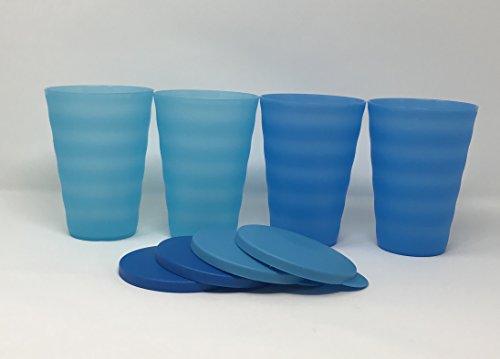 TUPPERWARE Impressions Becher 453 ml blau ohne Strohhalm