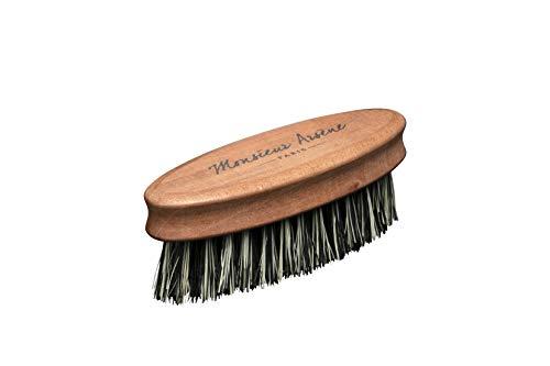 Monsieur Arséne Beard Brush Pear Wood + Cactus Fibres Promotes the Efficiency of Care – Stimulates Microcirculation – Handmade in France – Vegan – Cruelty Free