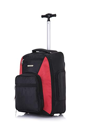 Flymax 47cm Backpack Trolley on 2 Wheels Lightweight Luggage for Laptop Work and Business Suitcase Cabin Case