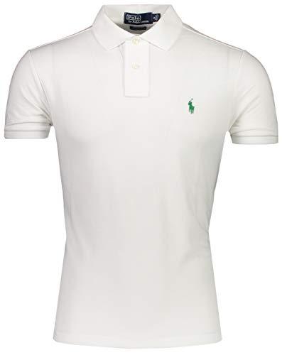 Polo Ralph Lauren Overhemden Wit - Slim Fit - 710-751221 (XXL) Hemd Weiß - Slim Fit - Frühling/Sommer