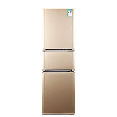 STAR BABY Gefrierschrank - freistehend, Gesamtvolumen 209 L, 110 L Kühlschrank, 65 L Gefrierfach, 38 dB, Innenbeleuchtung, Zubehör, Gold [Klasse A Energy +]