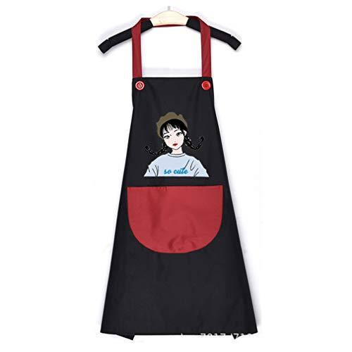 CAVIVI Delantal de lona de algodón para mujer, diseño de dibujos animados,...