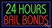 24時間Bail Bonds LEDサイン( High Impact、エネルギー効率的な)