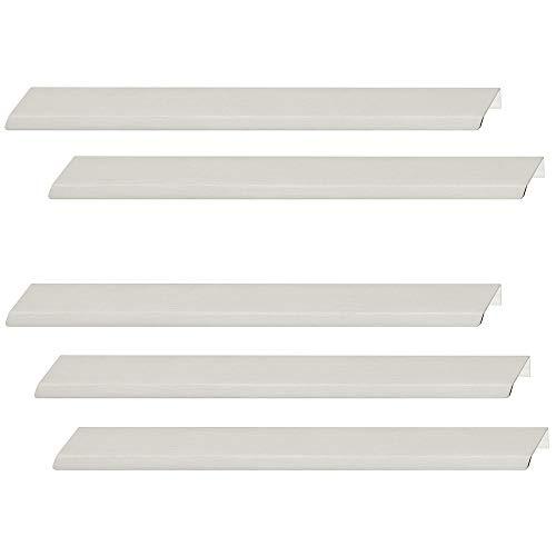 Gedotec Design Küchengriff Edelstahl Profilleiste Möbelgriff Küche Griffleiste Aluminium - Modell H10185 | Länge: 200 mm | Ziehgriff für Schubladen | 5 Stück - Schrankgriff Alu